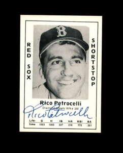 Rico Petrocelli Hand Signed 1979 Diamond Greats Boston Red Sox Autograph