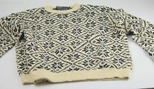 Polo Ralph Lauren Hand Knitted Cotton Linen Large L Nordic Alpine