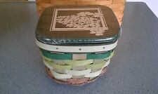 Longaberger 2016 St Patricks Day Make Your Own Luck Basket, lid & protector NEW