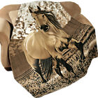 Western Horse Fleece Throw Blanket, by Collections Etc