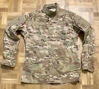 ARMY OCP COMBAT COAT TOP JACKET MEDIUM X-LONG USGI MULTICAM 50/50 RIPSTOP VGC