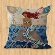 US SELLER- mermaid cushion cover decorative throw pillows