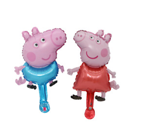 Peppa & George Pig Inflatable Air Hand Balloons Kids Party Decorations