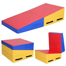Folding Incline Mat Slope Cheese Gymnastics Gym Exercise Aerobics Tumbling Wedge