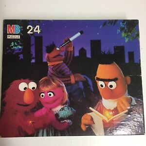 Vintage Sesame Street 24 Piece Jigsaw Puzzle by MB 1993 Milton Bradley Complete