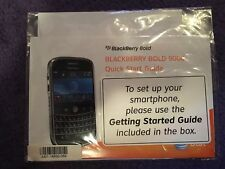NEW BLACKBERRY Bold 9000 User Tools CD-ROM and quick start guide