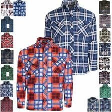 New Mens Flannel Brushed Cotton Work Shirt Lumberjack Check Long Sleeve M to 6XL