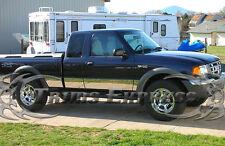 "1993-2004 Ford Ranger Extended Cab 4WD Short Bed Chrome Rocker Panel Trim-8 1/2"""