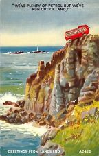 """Greetings from Land's End """"We've Plenty of Petrol but We've run out of Land"""""""