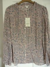 Monsoon Sara Pink Multi Ditsy Floral Ruffle Blouse Top UK 20 EUR 48 US 16