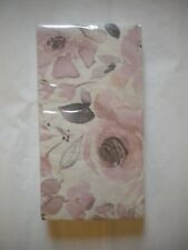 16 Count 3 ply Special Occasion Paper GUEST Towels ~ Napkins Soft Rose Pattern