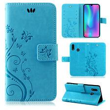 Huawei P-Smart 2019 Handy Tasche Handyhülle Wallet Schutz Hülle Blumen Cover Neu