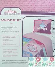 GIRLS VARSITY SPORTS TWIN COMFORTER SHEETS SHAM WALL STICKERS  BEDDING SET NEW