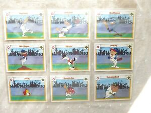 1990s Upper Deck Looney Tunes All Star Trading Cards (9 Cards) Bugs/Porky/Tweety