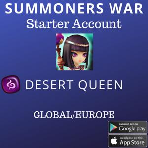Summoners War Dark Desert Queen Nephthys Starter Account