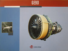 DOCUMENT RECTO VERSO SNECMA GENERAL ELECTRIC MOTEUR AVIATION GE90 ENGINE