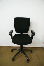 Gebrauchter Dauphin Bürostuhl, Schreibtischstuhl mit schwarzem Bezug.