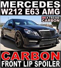 Mercedes E Class W212 E63 AMG Carbon Front Lip Spoiler Splitter