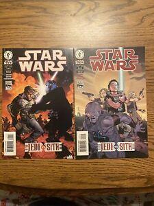 Star Wars Jedi Vs Sith #1-2 F/VF 1st Darth Bane 2001 Dark Horse Comics