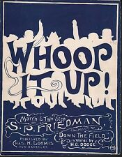 Whoop It Up 1906 Yale Football Large Format Sheet Music