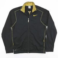 Vintage NIKE Black Zip Up Sports Track Jacket Mens Size Small