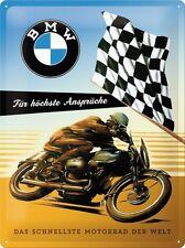 BMW  - FÜR HÖCHSTE ANSPRÜCHE  Blechschild 30x40 cm  - Motorrad Sign Biker  23202
