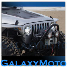 97-06 Jeep Wrangler TJ Wild Boar Chrome Projector Headlight Lamp+Halo Eagle Ring