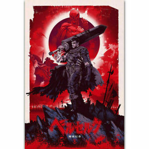 218186 Berserk Gatzu Blood Fight Sword Japan Anime GLOSSY POSTER  AU