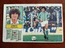 Cromo Canito betis fichaje liga 82 83 ediciones este temporada 1982 1983 fútbol