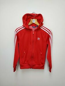 Adidas Originals Hoodie Women's Red Track Top  - UK Size 6
