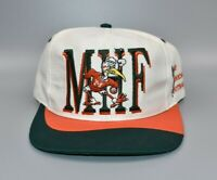 Miami Hurricanes Football Vintage 90's Twins Enterprise Snapback Cap Hat - NWT