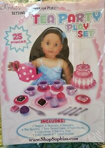 """Sophia's Girl Pretend & Play Tea  Party Set for 18"""" Dolls TOY (Box is Mess up)"""