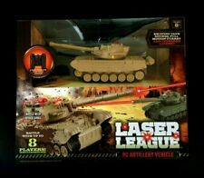 Laser League Rc Artillery Vehicle Tank With 8-way Remote Control • & Sealed