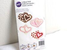 Wilton Double Heart Lollipop Mold #2115-4440 valentines wedding candy soap mold
