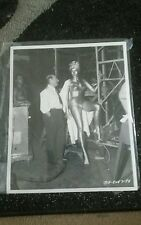 1953 JULIE NEWMAR RAREST EARLY SERPENT OF THE NILE RISQUE DANCE PHOTO COLUMBIA