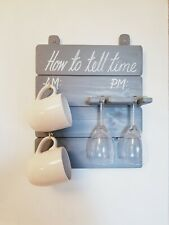 How To Tell Time Board AM PM, in grey, couple gift, funny gift, hygge home