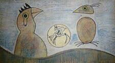Max Ernst Lithographie Originale sur velin signée art abstrait surréaliste