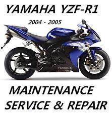 New listing Yamaha Yzf-R1 R1 Yzfr 1000 Service Repair Manual 2004 2005 Maintenance Rebuild