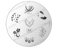 1 Konad Stamping Nail Nails Design Art Image Plate M77