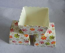 20p bakerware Colorful daisy white square muffin case cupcake paper cup 1.75inch