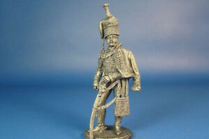 Officer 15th Light Dragoon Regiment 1808-13 Year 1/32 Scale Unpainted Tin Figure