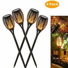 4Pack Solar LED Flickering Landscape Lamps Dancing Flame Torch Home Garden Light