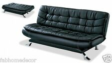 Soho Leatherette  Soft Sofa cum Bed by Furny