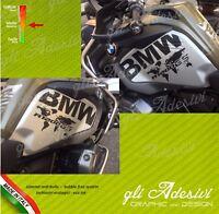 2 Adesivi Fianco Serbatoio Moto BMW R 1200 1250 gs adventure LC World Map