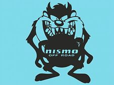 Taz Nismo off Road Car Sticker Bumper Rear Car Window Sticker Car Window DYI T34