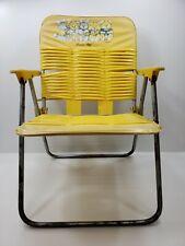 Vintage Child Size Vinyl Tube Strap Folding Lawn Beach Chair Collins CO, LTD