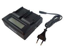 Dual Schnell-Ladegerät 2.1A [USB + Display] fuer Canon BP-970, BP-970G, BP-975
