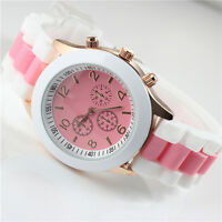 Geneva Fashion Crystal Jelly Gel Silicon Ladies Girl Women's Quartz Wrist Watch#