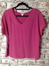 Ladies Monsoon Fushia Pink Silk & Modal Top. Size 10. Ex Cond