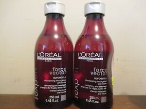 2x L'Oreal expert force vector Glycocell Reinforcing Anti-Breakage Shampoo 8.4oz